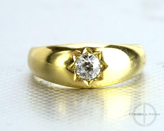 Antique Diamond 18k Gold Band Ring | Old European