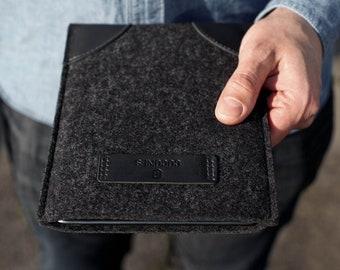 NEW iPad Mini 6 2021 Classic Sleeve Case Leather Wool Felt Gift for Girl Women Men COCONES STUDIO