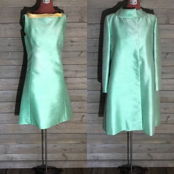 1960s A-Line Dress with Matching Coat by Rappi