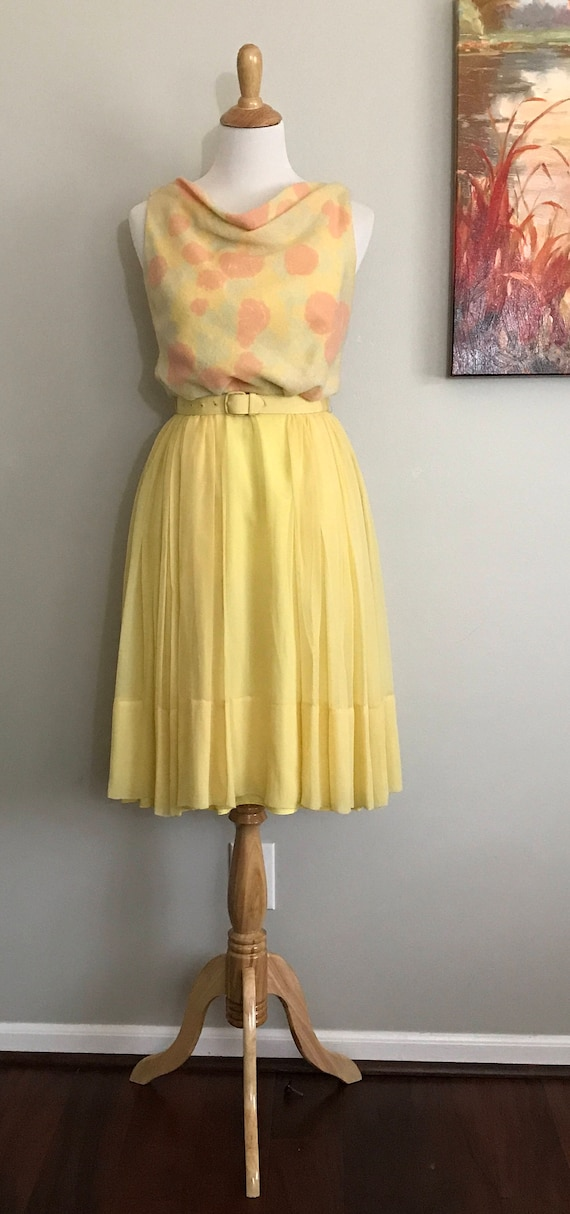 Yellow 1950's/1960's Party Cocktail Dress by Mr. M