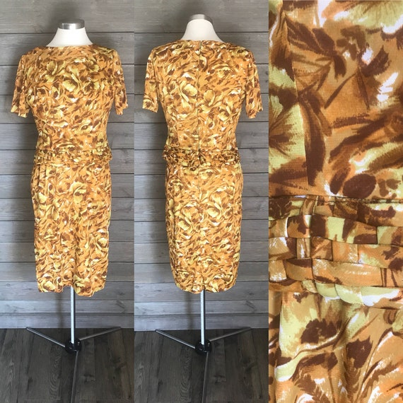 1960s Jersey Two-Piece Dress - Fall Colors of Oran