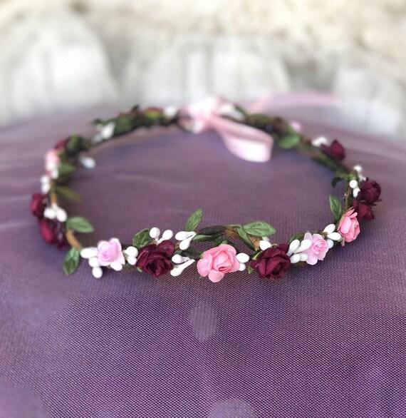 Coussin Fleurs Couronne Mariage Anniversaire Demande Nom Date Cadeau polyester