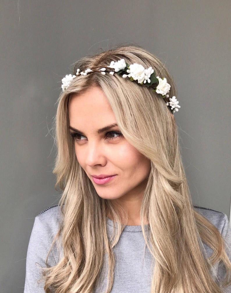449aab9a45b Woodland Crown Bridal Flower Crown Wedding hair accessories