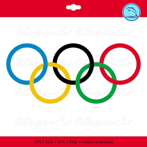 digital clipart olympic rings silhouettes for cutting etsy rh etsy com Special Olympics Clip Art usa olympic rings clip art