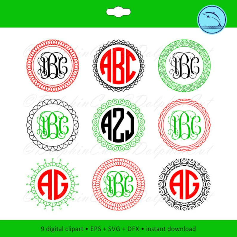 Decorative Art Frame silhouette for cutting, images svg, dxf, eps vector  picture border, t-shirt logo, bill, stamp circle, printable files