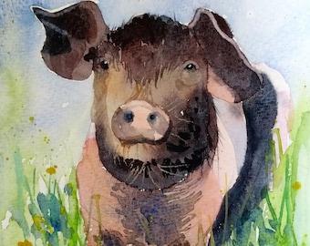 Patricia, original watercolour by Shari Hills