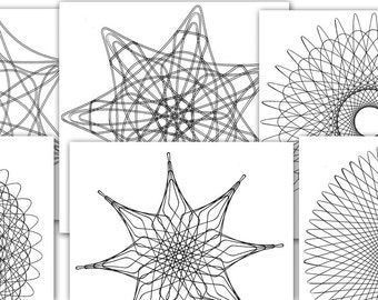 Coloring Pages for Adults 6-Pack: Full Page Spiro Mandalas Vol. 2