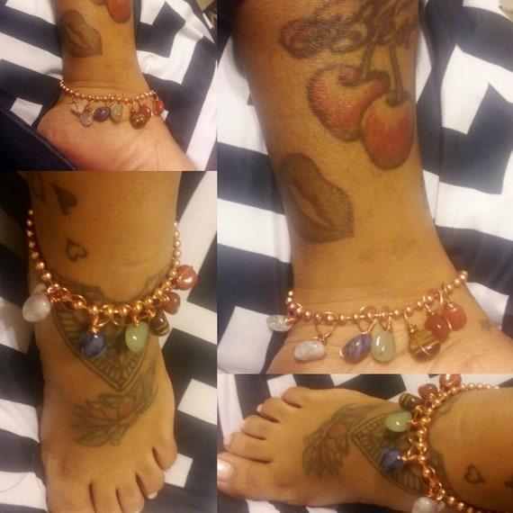 7 Crystal Anklet