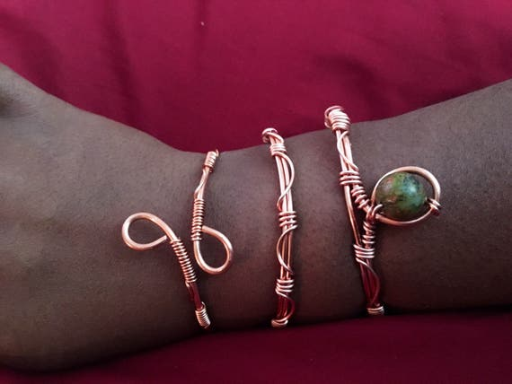 Copper Cuff Bracelet Sets