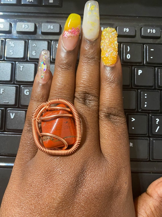 Red Jasper Classic Wrap Ring