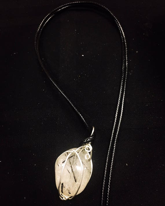 Sterling Wire Wrapped Crystal