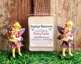 Fairy Farts: Scented All Natural Beeswax, Organic Soy, Palm & Coconut Wax Melts - 6 Blocks Per Pack