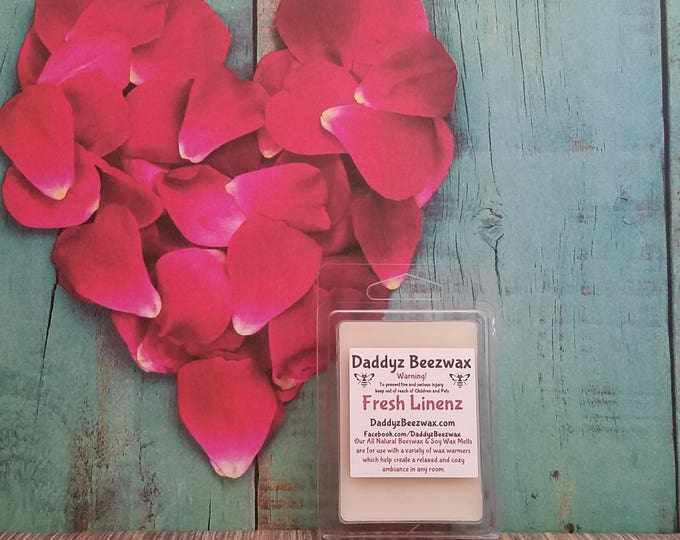 Fresh Linenz: Scented All Natural Beeswax Coco Crème Melts! 6 Blocks Per Pack.