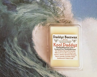 Kool Daddyz: Scented All Natural Beeswax and Organic Soy Wax Melts - 6 Blocks Per Pack