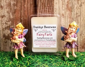 Fairy Farts: Scented All Natural Beeswax and Organic Soy Wax Melts - 6 Blocks Per Pack