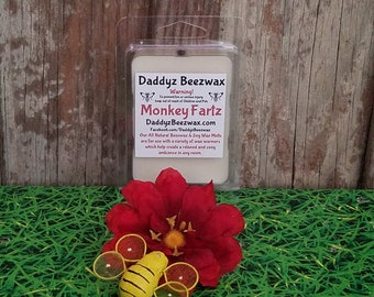 Monkey Fartz: Scented All Natural Beeswax and Organic Soy Wax Melts - 6 Blocks Per Pack