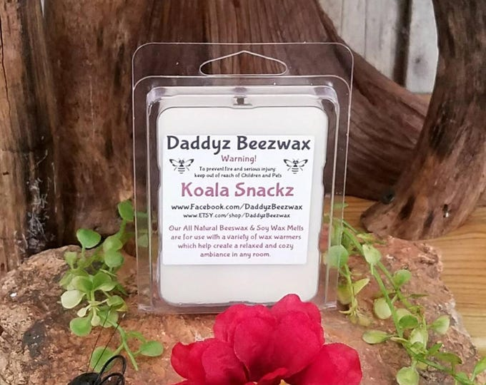 Koala Snackz: Scented All Natural Beeswax and Organic Soy Wax Melts - 6 Blocks Per Pack