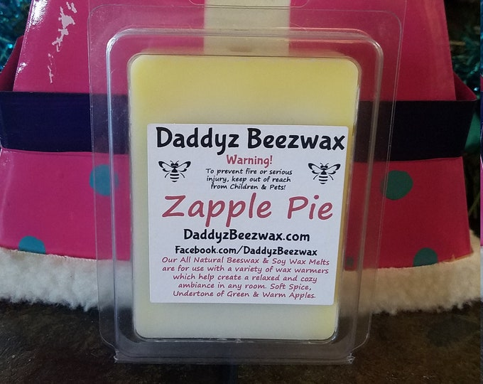 Zapple Pie: Scented All Natural Beeswax and Organic Soy Wax Melts! 6 Blocks Per Pack.