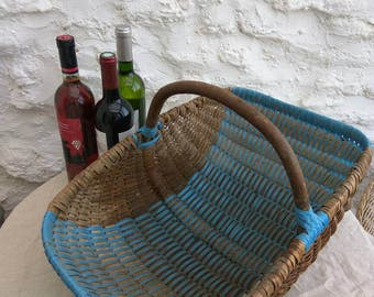 Vintage French garden produce basket