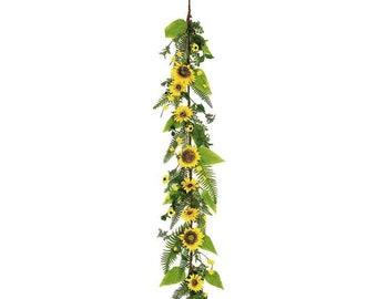 Spring Summer Sunflower Garland , 5'