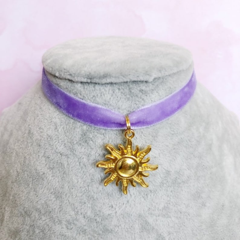 Tangled Rapunzel Disney Princess Velvet Choker Necklace image 0