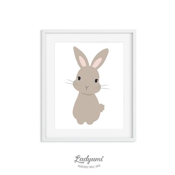 3 Cute Prints Rabbit Some Bunny Loves You Kawaii Nursery Wall Art Decor Pictures