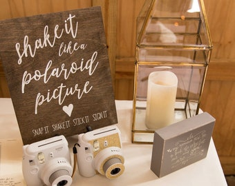 Polaroid guest book | Etsy