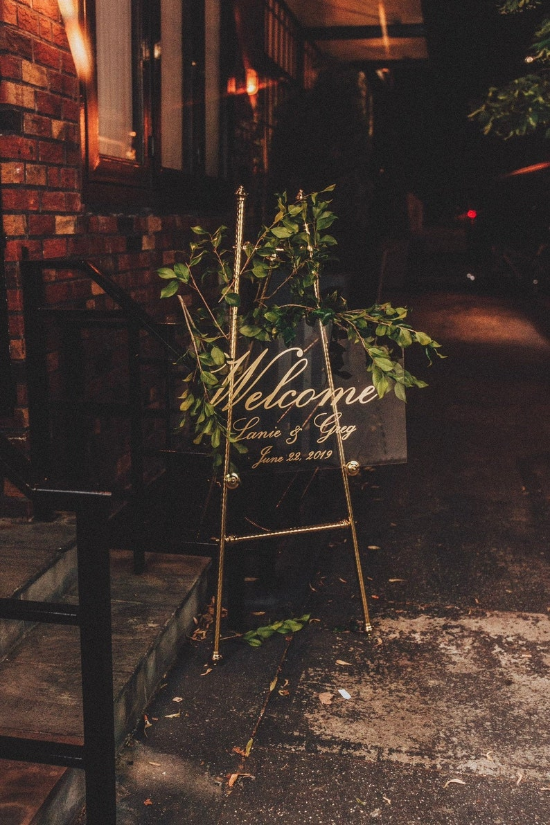 Acrylic Sign  Wedding Welcome Sign  Acrylic Welcome Sign  image 0