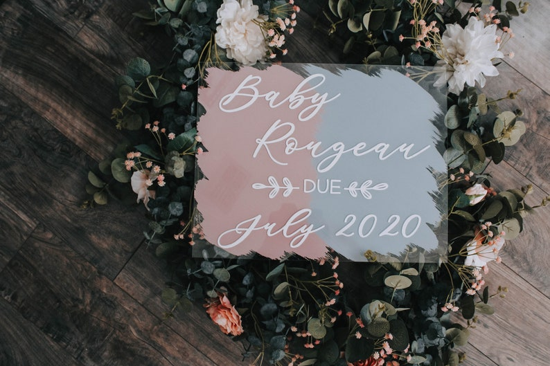 Baby Announcement Sign Acrylic Baby Announcement Baby Announcement Idea
