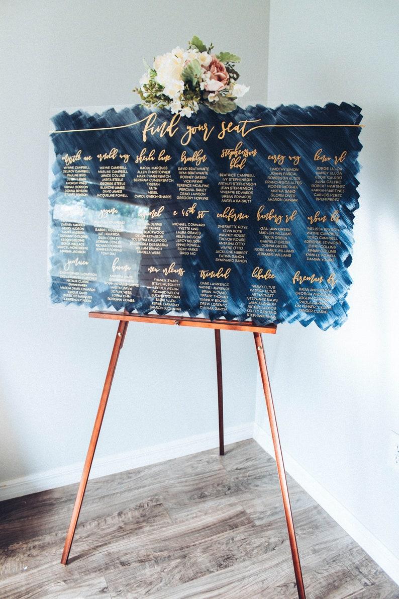 Acrylic Seating Chart  Seating Chart Wedding  Modern Acrylic image 1