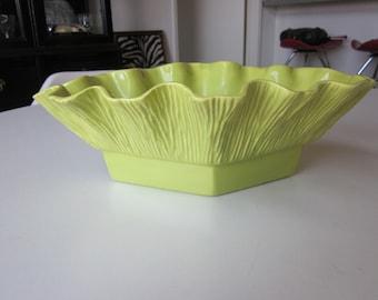 Miramar California Pottery Chartreuse Planter #258