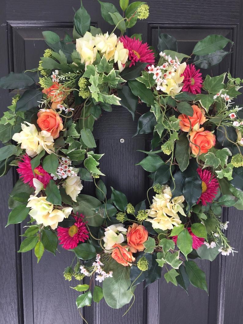 Summer Wreath Front Door Decor Spring Wreath Front Door Wreath