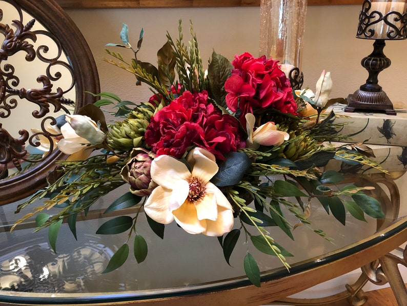 Magnificent Silk Floral Arrangement Dining Table Floral Arrangement Table Arrangement Centerpiece Floral Centerpiece Home Interior And Landscaping Ologienasavecom