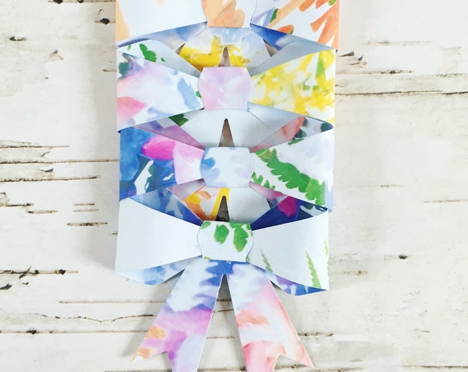 Bows, gift bows, paper bows, floral bows, gift toppers, gift wrap, floral gift wrap, floral gift box, paper gift box, four pack, box of bows