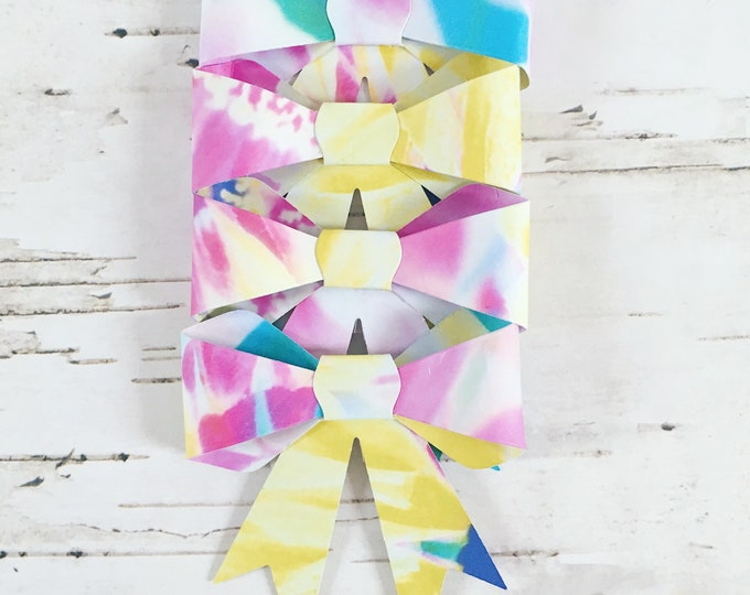 Bows, gift bows, floral gift bows, paper bows, paper gift bows, floral paper bows, guft topper, guft wrap, floral gift wrap, pack of four