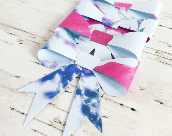 Bows, gift bows, floral gift bows, paper bows, floral paper bows, gift topper, gift wrap, floral gift wrap, florals bows, four pack