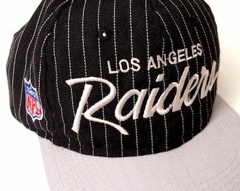 eef0725cd00e7 Vintage Los Angeles Raiders Snapback hat - Sports Specialties -90s pinstripe