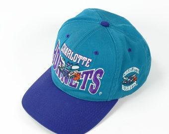 Vintage Charlotte Hornets snapback hat The G cap vtg 90s 341d886ad3a6