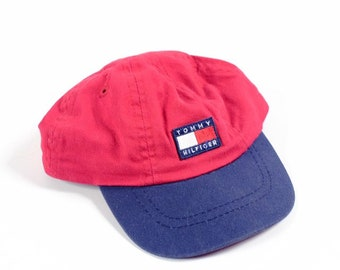 Vintage Tommy Hilfiger flag hat toddlers children kids sz small vtg f790e347bba