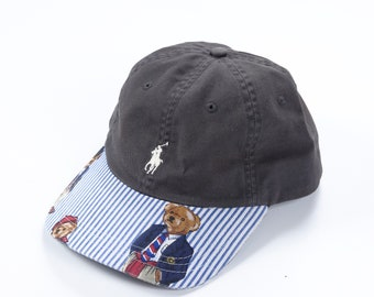33f6445e889 Custom POLO BEAR Ralph Lauren 6 panel dad hat reworked