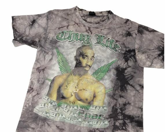 Vtg Tupac Shakur tie dye rap t shirt sz XL thug li