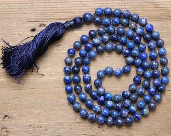 Find Your Truth Mala, Lapis Mala, Lapis, 108 Mala Beads