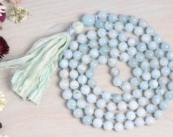 £4.49 108 Beads Amazonite Lotus Necklace Bracelet Meditation Chakra Christmas
