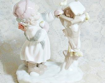 Dolfi Figurine - Lisi Martin - Little Girl Feeding Birds