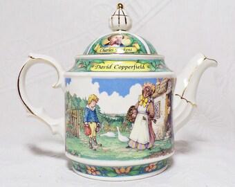 Sadler Porcelain Tea Pot - Charles Dickens Series - David Copperfield