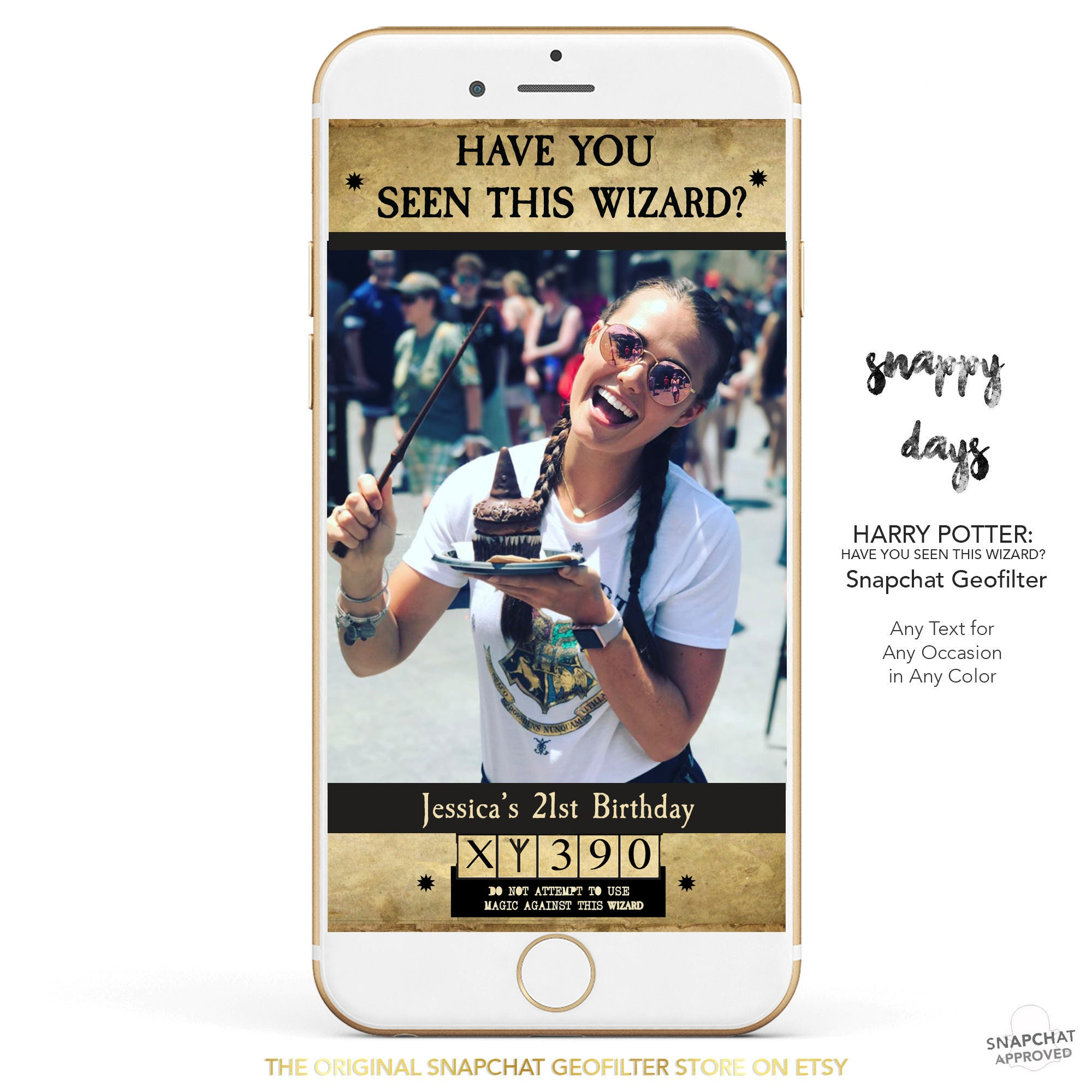 Snapchat Geofilter Harry Potter Have You Seen This Wizard Etsy