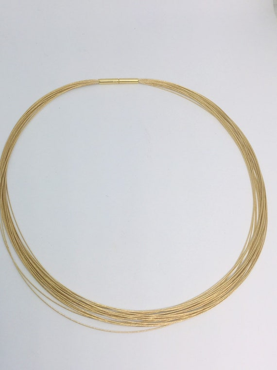 18k yellow gold multi strand germany necklace