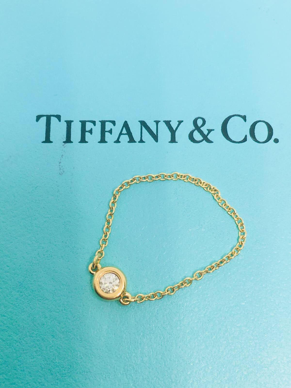 TIFFANY & CO Elsa Peretti 18k rose gold Diamant Kettenring. | Etsy