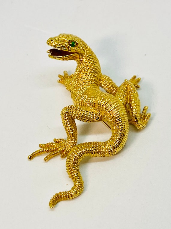 Scully & scully   18k dragon lizard large pin broo