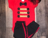 Boys set Inspired by The Greatest Showman Ring Master Boys Set Newborn, 3-6 m, 6-12 m 12-24 m 2T,3T up to Size 8